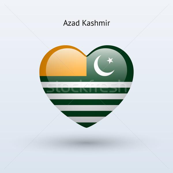 Love Azad Kashmir symbol. Heart flag icon. Stock photo © tkacchuk