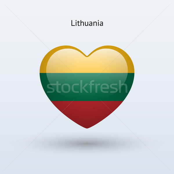 Liefde Litouwen symbool hart vlag icon Stockfoto © tkacchuk