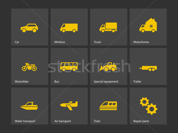 Cars and Transport icons. Stock photo © tkacchuk
