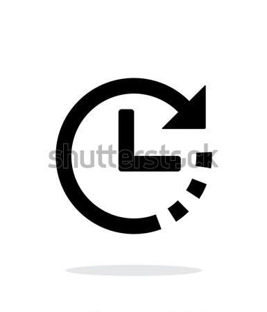 Contagem regressiva ícone branco cara relógio digital Foto stock © tkacchuk