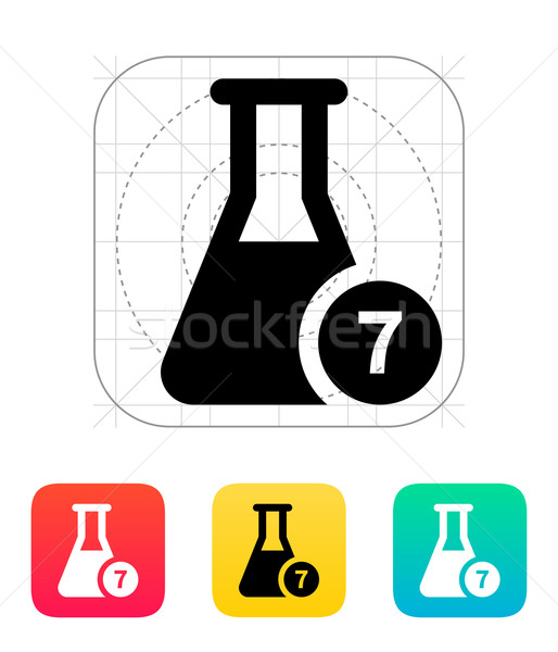 Flask with number icon. Vector illustration. Stock photo © tkacchuk