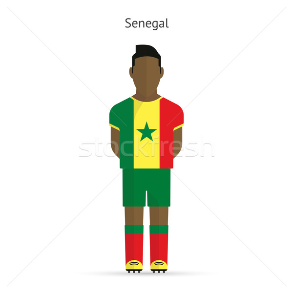 Senegal voetballer voetbal uniform abstract fitness Stockfoto © tkacchuk
