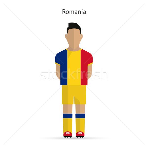 Rumania futbolista fútbol uniforme resumen fitness Foto stock © tkacchuk
