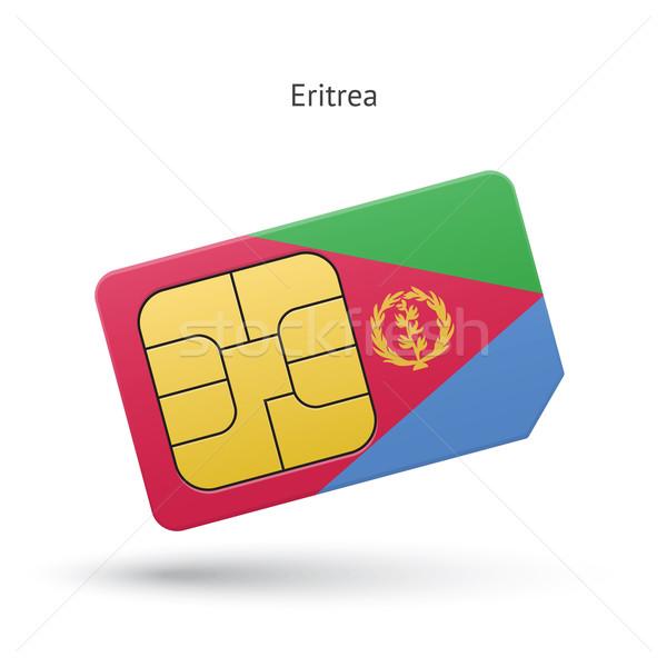 Erytrea telefonu komórkowego karty banderą działalności projektu Zdjęcia stock © tkacchuk