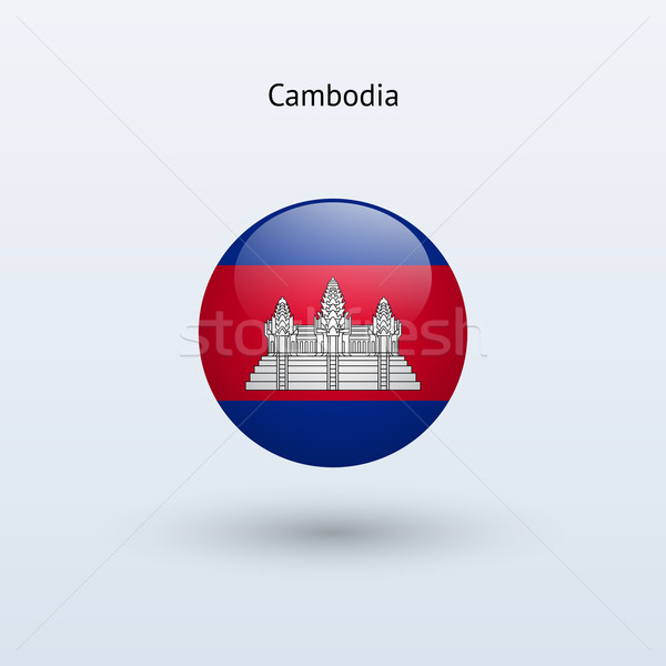 Camboja bandeira cinza assinar teia viajar Foto stock © tkacchuk