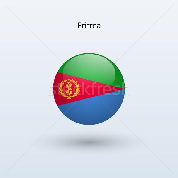 Erytrea banderą szary podpisania internetowych podróży Zdjęcia stock © tkacchuk