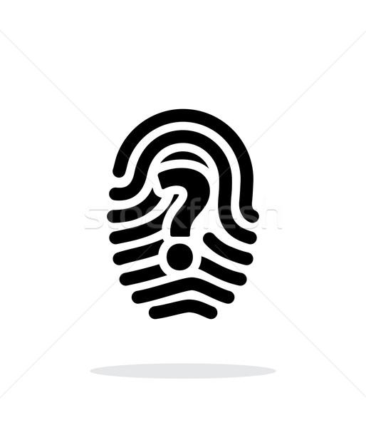 Question mark sign thumbprint icon on white background. Stock photo © tkacchuk