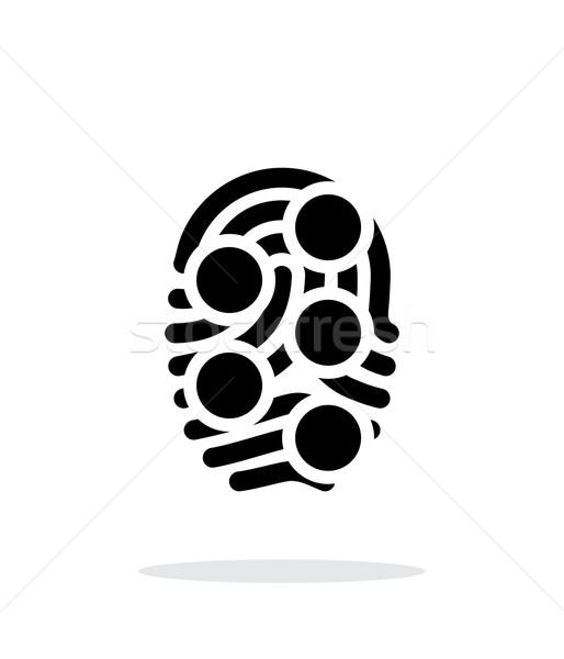 Impronte digitali cappio tipo scansione icona bianco Foto d'archivio © tkacchuk