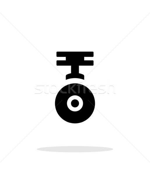 Camera for copter simple icon on white background. Stock photo © tkacchuk