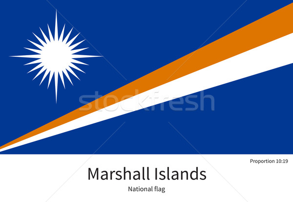 National flag of Marshall Islands with correct proportions, element, colors Stock photo © tkacchuk