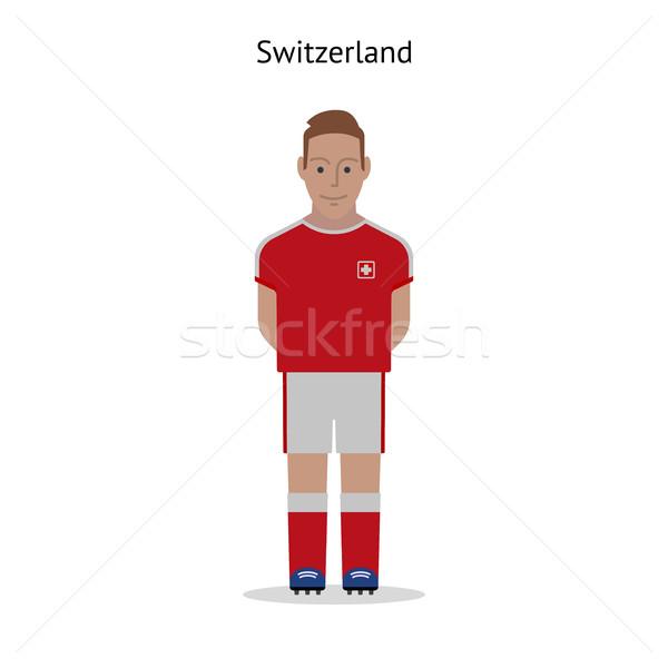 Fußball Schweiz Fußballer Form Fußball Stock foto © tkacchuk