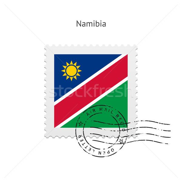 Намибия флаг почтовая марка белый знак письме Сток-фото © tkacchuk