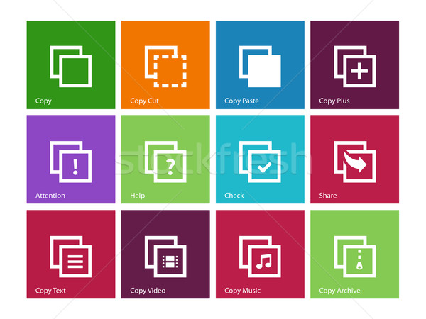 Copy Paste icons for Apps, Web Pages. Stock photo © tkacchuk