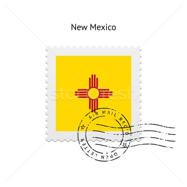 Нью-Мексико флаг почтовая марка белый знак письме Сток-фото © tkacchuk
