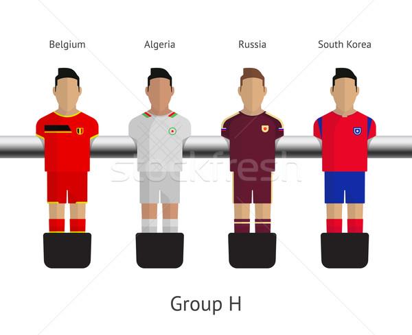 Mesa fútbol fútbol jugadores grupo Bélgica Foto stock © tkacchuk