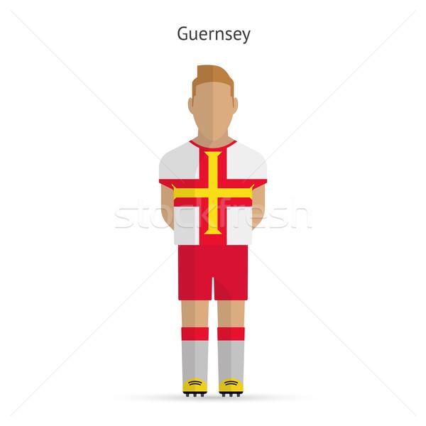 Guernsey football player. Soccer uniform. Stock photo © tkacchuk