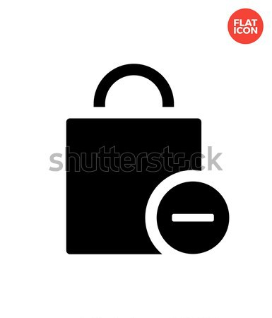 Handbag remove goods simple icon on white background. Stock photo © tkacchuk