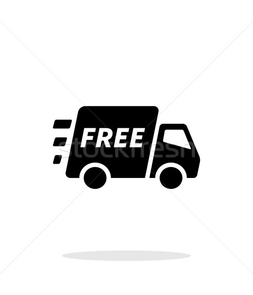 Free delivery support icon on white background. Stock photo © tkacchuk