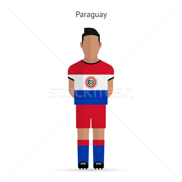 Paraguay football player. Soccer uniform. Stock photo © tkacchuk
