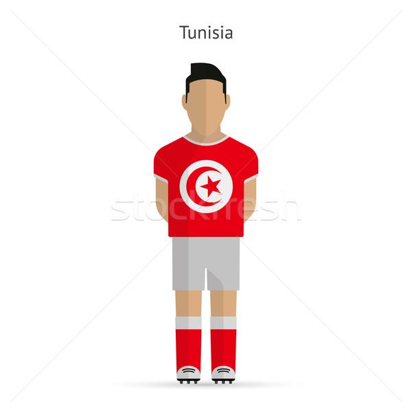 Тунис футболист Футбол равномерный аннотация фитнес Сток-фото © tkacchuk