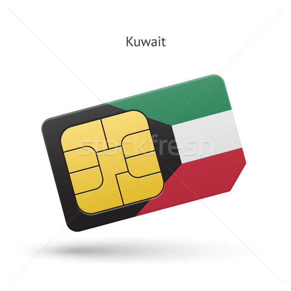 Kuwait cellulare carta bandiera business design Foto d'archivio © tkacchuk