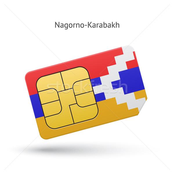 мобильного телефона карт флаг бизнеса дизайна технологий Сток-фото © tkacchuk