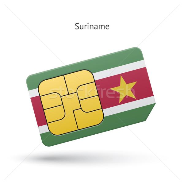 Суринам мобильного телефона карт флаг бизнеса дизайна Сток-фото © tkacchuk