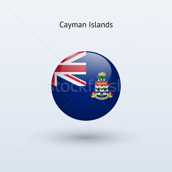 Cayman Islands round flag. Vector illustration. Stock photo © tkacchuk