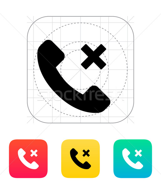 Phone call cancel icon. Stock photo © tkacchuk