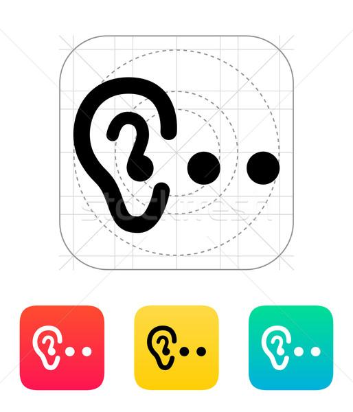 Hearing abstract icon. Stock photo © tkacchuk