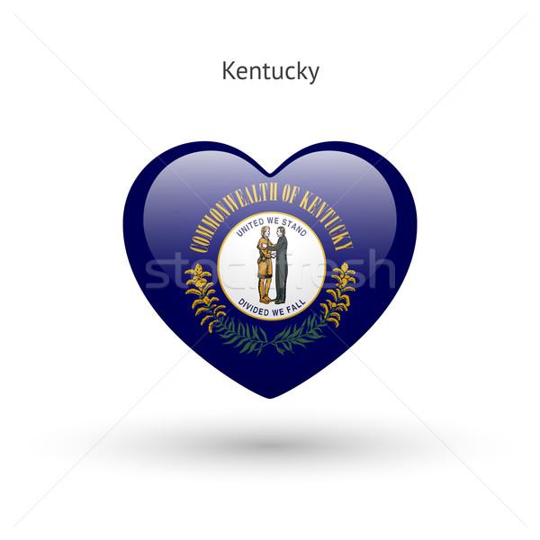 Love Kentucky state symbol. Heart flag icon. Stock photo © tkacchuk