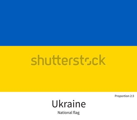 National flag of Ukraine with correct proportions, element, colors Stock photo © tkacchuk