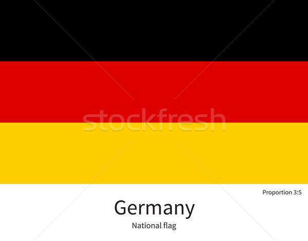 Flagge Deutschland korrigieren Element Farben Bildung Stock foto © tkacchuk