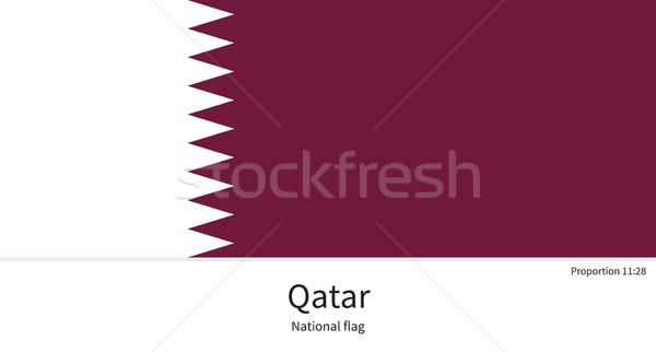 Bandeira Catar corrigir elemento cores educação Foto stock © tkacchuk