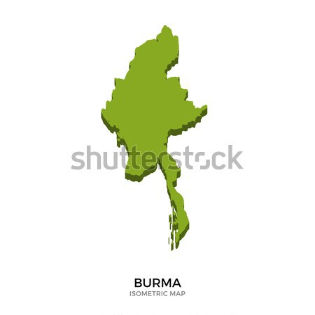 Isometric map of Burma detailed vector illustration Stock photo © tkacchuk