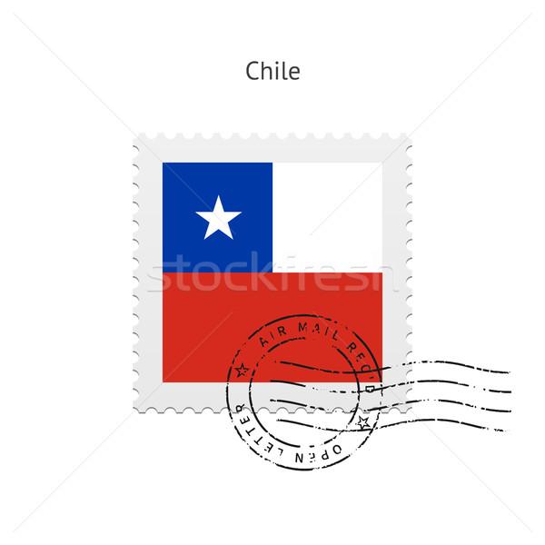 Şili bayrak beyaz imzalamak mektup Stok fotoğraf © tkacchuk