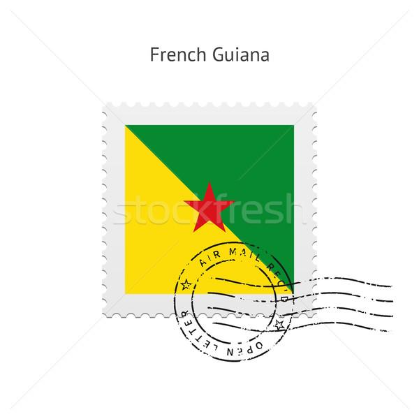 French Guiana Flag Postage Stamp. Stock photo © tkacchuk