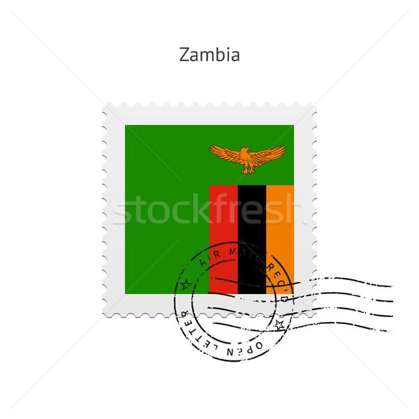 Zambia Flag Postage Stamp. Stock photo © tkacchuk