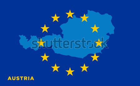 EU flag with Cyprus country. European Union membership Cyprus Stock photo © tkacchuk