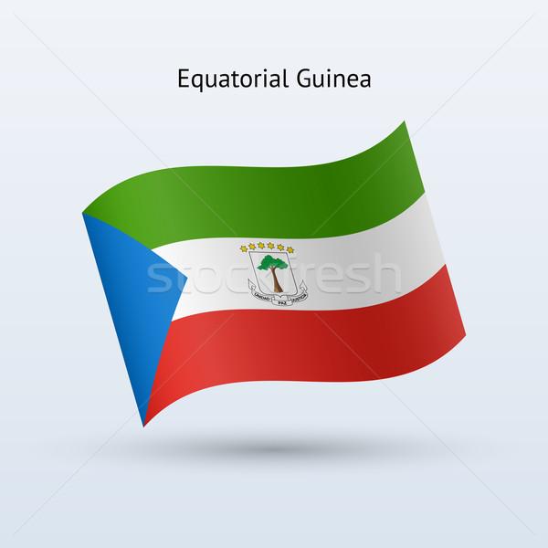 Экваториальная Гвинея флаг форме серый знак Сток-фото © tkacchuk