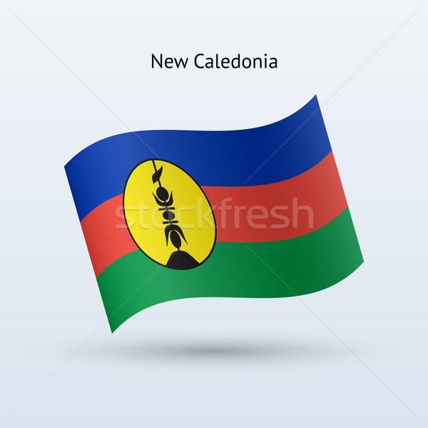New Caledonia flag waving form. Stock photo © tkacchuk