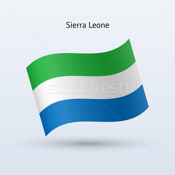 Sierra Leone flag waving form. Stock photo © tkacchuk