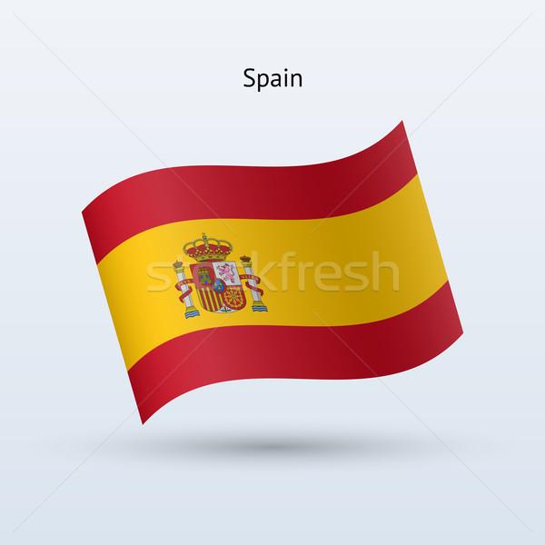 Spain flag waving form. Vector illustration. Stock photo © tkacchuk