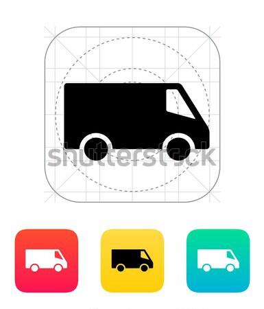 配信 マイクロバス アイコン 車 トラック ショップ ストックフォト © tkacchuk