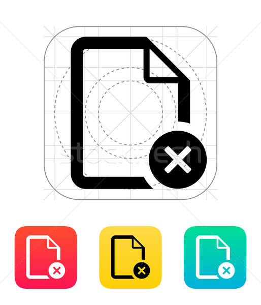 Remove file icon. Stock photo © tkacchuk