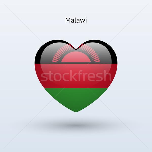 любви Малави символ сердце флаг икона Сток-фото © tkacchuk