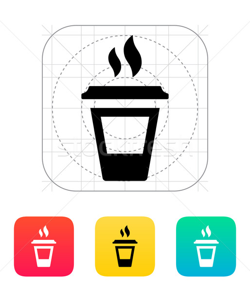 Ending coffee cup icon. Stock photo © tkacchuk