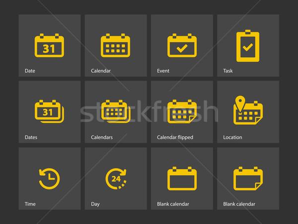 Calendrier icônes réunion graphique objet planification Photo stock © tkacchuk