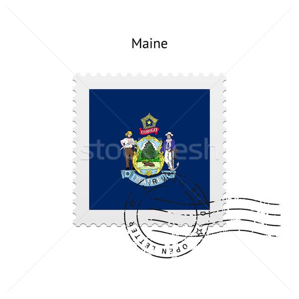State of Maine flag postage stamp. Stock photo © tkacchuk