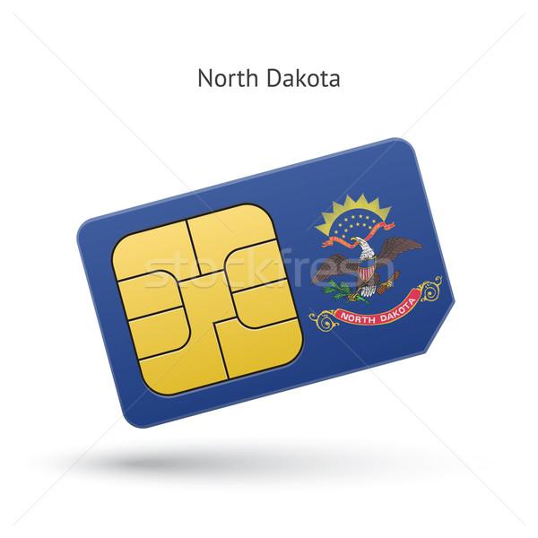 Stok fotoğraf: Kuzey · Dakota · telefon · kart · bayrak · iş · teknoloji